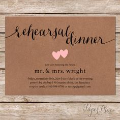 Rustic rehearsal dinner invitation / rustic wedding / printable digital file or…