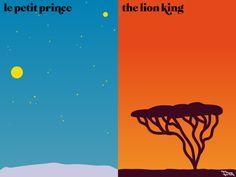 Paris VS New York ▼「童話といえば」 パリ「星の王子様」 ニューヨーク「ライオンキング」