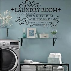 Laundry room décor