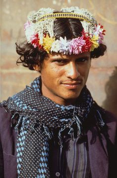 """Habala Mountains, Asir, Saudi Arabia  """"Habala is a small mountain village in Saudi Arabia's Asir province near the Yemeni border. For centuries, a tribal community known as """"flower men"""", because of their custom of wearing wreaths dried herbs and..."""
