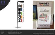 Gestaltung Messe-RollUp und BeachFlag - Hannes, Remscheid