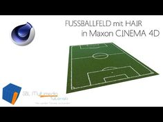 (4) Cinema 4D R15 Tutorial: Fussballfeld erstellen mit Hair in Cinema 4D - SBL Multimedia - YouTube