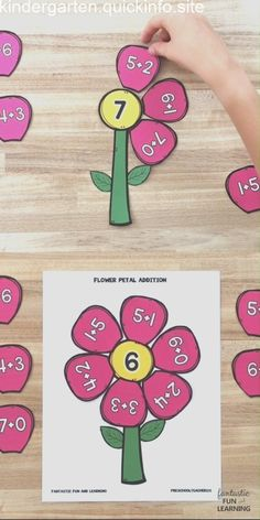 Flower Petal Addition Activity Fantastic Fun & Learning is part of Spring math activities - Practice early addition and math facts in preschool and kindergarten with this free printable flower petal addition activity in math groups or math centers Addition Activities, Subtraction Activities, Math Activities For Kids, Math For Kids, Fun Math, Kids Fun, Educational Activities, Spring Activities, Math Activities For Preschoolers