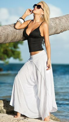 Harem Pants, Beach Wear, Beach Clothing.. I like the skirt