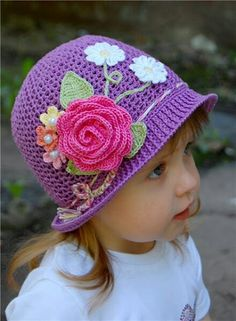 Crochet WONDERFUL SUMMER Panama HATS FOR GIRLS Free photo walk through