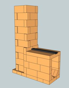 Simple brick batch rocket core Rocket Stove Design, Wood Gas Stove, Rocket Mass Heater, Contemporary Cabin, Stove Heater, Outdoor Oven, Rocket Stoves, Earthship, Maker