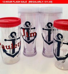 Monogrammed Beer to go cup, Beer tumbler, acrylic beer travel mug, Monogram Beer glass, personalized tumbler, groomsmen gift Mardi Gras Cup