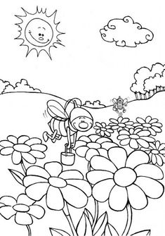 Read moreNature Coloring Pages For Kindergarten Coloring Pages Nature, Online Coloring Pages, Mandala Coloring Pages, Coloring Pages For Kids, Coloring Sheets, Funny Wedding Dresses, Tayo The Little Bus, Mandala Rose, Nature Landscape