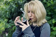 JAPANESE SMOKING PIPES | ... on a lighter (ahem) side, a photo of a pretty woman smoking a pipe