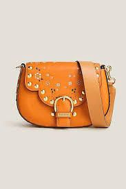 Marc Jacobs Studded Rust Leather Navigator Black Turn-Lock Clasp Closure Saddle #Doris_Daily_Deals #Bonanza http://www.bonanza.com/listings/440131055
