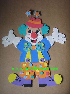 Palyaço Clown Crafts, Drawing Competition, Clown Party, Clowning Around, Animal Crafts For Kids, Kids Room Wallpaper, Ideas Para Fiestas, Cute Cartoon Wallpapers, Paper Piecing