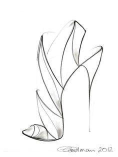 high heel shoe drawings - Google Search