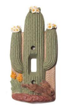 Vicki Lane Light Switch Decor Cover - Southwest Cactus, single switch
