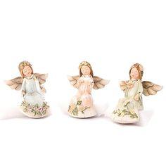 3 x liegender Engel auf SCHWAN Engelfigur Babyengel Taufe Hochzeit Figuren