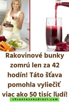 Rakovinové bunky zomrú len za 42 hodín! Táto šťava pomohla vyliečiť viac ako 50 tisíc ľudí! Detox, Drinks, Fitness, Beverages, Drink, Excercise, Beverage, Health Fitness, Rogue Fitness