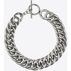 Saint Laurent Punk Gourmette Choker (16,680 MXN) ❤ liked on Polyvore featuring jewelry, necklaces, accessories, choker, bracelets, punk rock jewelry, choker jewellery, toggle necklace, engraved jewellery and brass jewelry