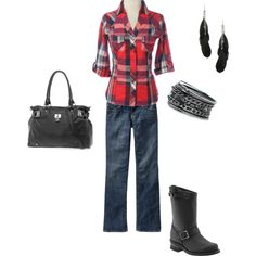 casual-hmm i could get used to the flannel