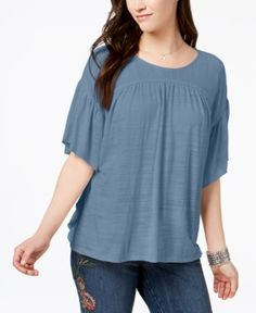 2cad915d43bad Style   Co Flutter-Sleeve Poncho Top