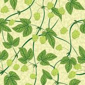 Hops Art | hop seamless background - royalty free clip art