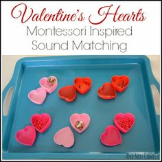 Montessori inspired sound matching hearts for Valentine's Day from And Next Comes L