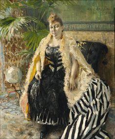 Akseli Gallen-Kallela: Parisienne, 1888, oil on canvas