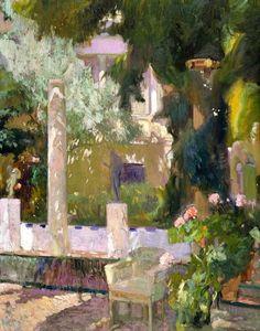 Joaquín Sorolla y Bastida, The Gardens at the Sorolla Family House, 1920