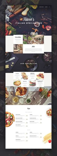 restaurant website This is our daily Website design inspiration article for our loyal readers. Every day we are showcasing a website design ideas whether live on app stores or only designed as concept. Layout Design, Layout Web, Graphisches Design, Website Layout, Layout Site, Restaurant Site Web, Restaurant Website Design, Restaurant Menu Design, Restaurant Food