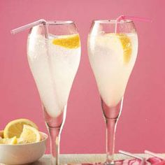 Limoncello Spritzer Recipe -A perfect hint of lemon highlights in this popular, refreshing cooler.—Taste of Home Test Kitchen