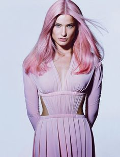 From Lauren Conrad's peach-tinted tips to Kelly Osbourne's all-over lavender, celebs continue to show off pastel hair colors. In the wake of the Easter season, hair colorist Orlando Pita and the color team from Orlo colored four models' hair in playful colors for T Magazine. Pita shares his tips for trying this bold trend yourself! #hairflo.com