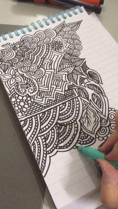 zen draw doodle doodles drawing easy zeichnet wie flowers kritzeleien sharpie cool mandalas stuff mandala tangles zentangle ein journals drawings