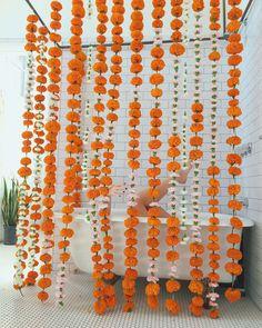 A curtain of marigolds   designlovefest
