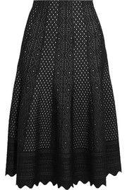 Alexander McQueen - Pointelle-knit midi skirt