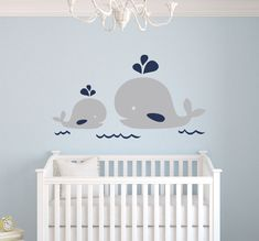 Nautical Mom and Baby Whale Vinyl Wall Decal Nautical Decor Baby Nursery Wall Decals Wall stickers For Kids Room Mural Art _ {categoryName} - AliExpress Mobile Version - Nautical Theme Nursery, Whale Nursery, Baby Whale, Nursery Wall Decals, Baby Nursery Decor, Nursery Themes, Nursery Room, Girl Nursery, Baby Boy Rooms