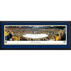 Worldwide Blakeway Panoramas 'Nashville Predators Playoffs' Framed NHL Print