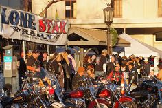 The Lone Star Biker Rally rumbles onto the Island each fall, and features tens of thousands of riders from across the country.    http://www.galveston.com/