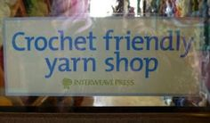 yes we are crochet friendly