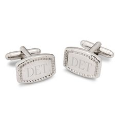 Our Personalized Beaded Rectangular Cufflinks