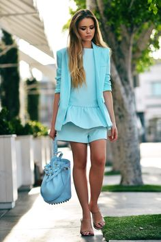 Kayture Is Wearing Romper And Blazer From Finders Keepers, Shoes From Chloé And Alexander Wang Bag