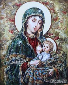 Mary Mother of God Jesus And Mary Pictures, Images Of Mary, Mary And Jesus, Religious Photos, Religious Icons, Religious Art, Divine Mother, Mother Mary, Mother And Child