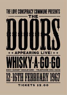 The Doors concert poster The Doors art print by TheIndoorType