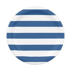 Navy u0026 White Stripes | Paper Plates  sc 1 st  Pinterest & Get the party started with our custom patterned paper plate designs ...