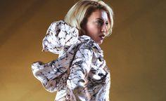 Women's Big Wrap Marbled Silk featherweight Jacket by RebeccaBruce, $350.00