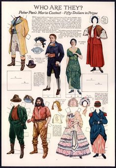 Who Are They? Peter Pan movie contest paper dolls. Delineator Magazine #5 July 1917 / eBay
