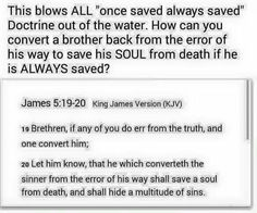 The unBiblical once-saved always-saved doctrine  #Christian #Christ #Christianity #JesusIsGod #Jesus #JesusChrist #JesusLovesYou #Acts238 #John316 #John824 #John146 #OnceSavedAlwaysSaved