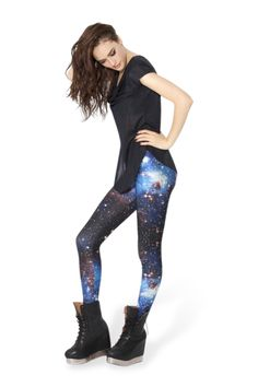 Galaxy Blue Leggings › Black Milk Clothing