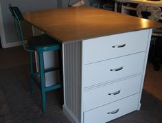Other Side of Cutting table, drawers to hold patterns
