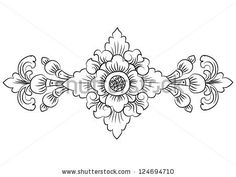 Draw Flower Patterns Stock Images similar to ID 81046270 - thai pattern - Flower Pattern Drawing, Flower Patterns, Style Patterns, Leather Tooling Patterns, Leather Pattern, Thai Pattern, Pattern Art, Stencil, Wood Carving Patterns