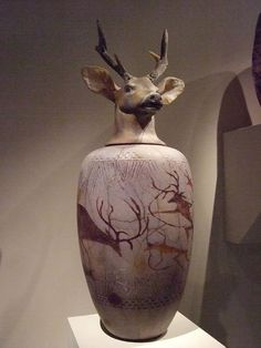 Canopic Jar Buck by William Morris 1993 Blown glass