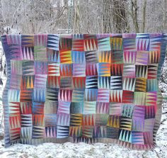 Free Knitting Pattern for Happy Blanket