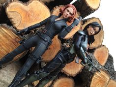 Black Widow & Baroness, by Chad Lawless